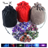 Universe Galaxy Dice 6sets 7 Pieces Role Playing Game Digital Dice Table Boardgame Portable Dice Man Gift Christmas Gift