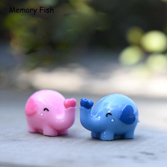Micro garden decoration Cute Lovers Elephant model ornaments toys