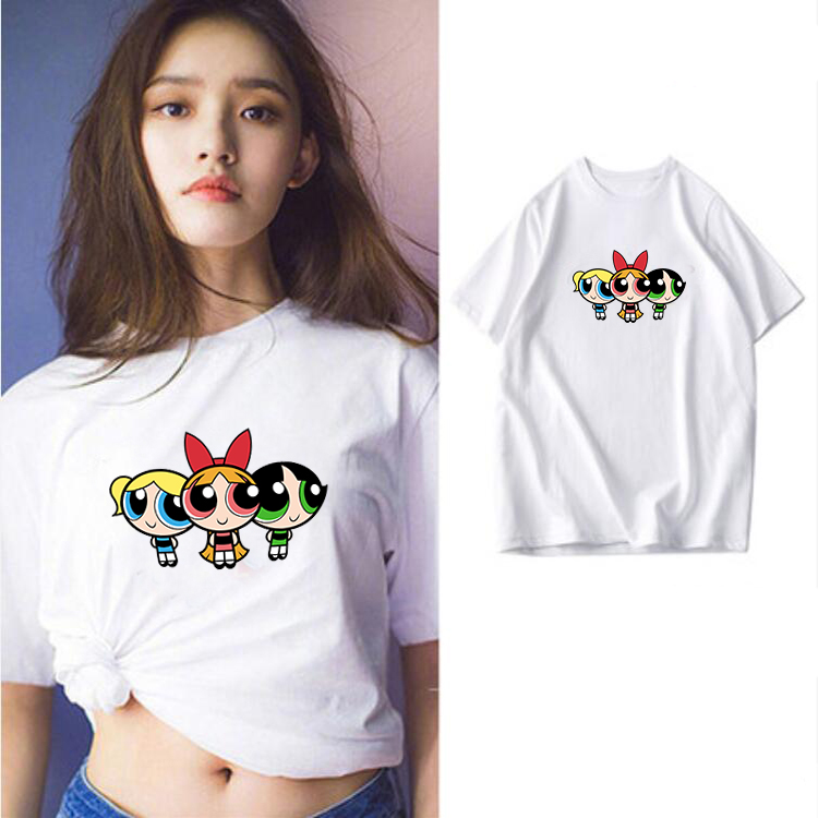 HTB1QRUPV7voK1RjSZFwq6AiCFXaT - high quality cotton womens t shirt kawaii cartoon t-shirt femme t shirts vintage tshirt clothes women kpop vintage tee printed