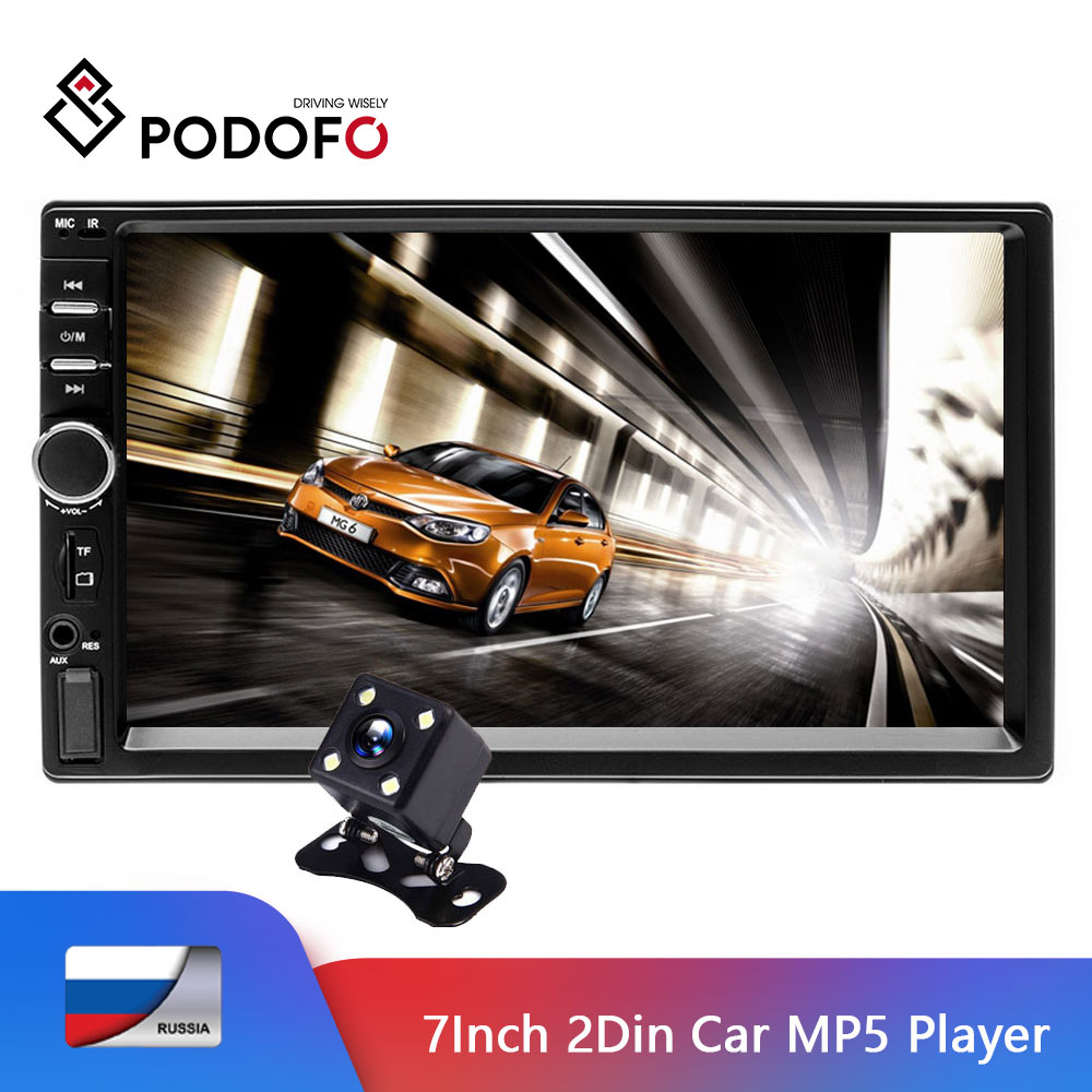 Podofo autoradio 2 din 7018b ecran tactile 7 ''voiture audio Bluetooth USB MP5 Multimidio lecteur 2 Din auto radio stéréo