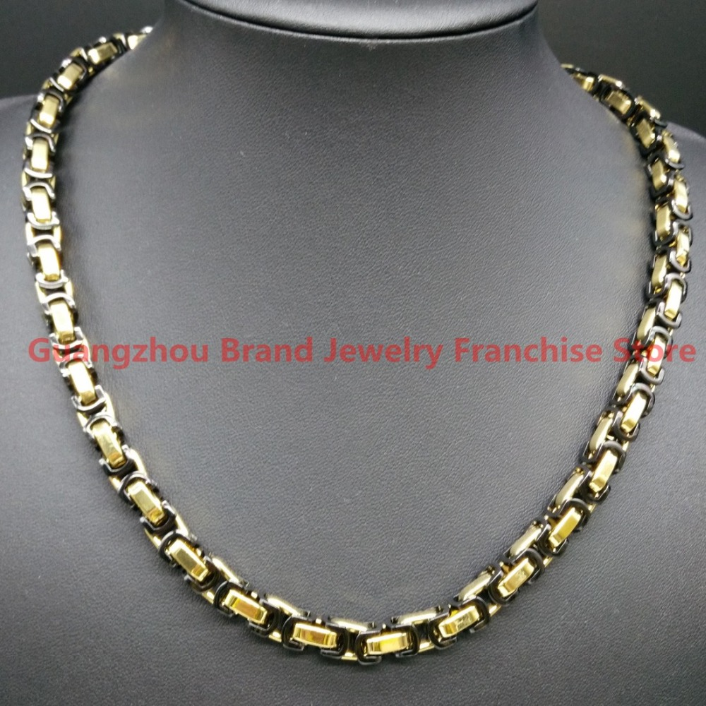 men chain flat finished polished link silver byzantine necklace for s solid highly jewellery