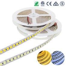 Tira de luces LED DC12V 12 24 V SMD 5054, 5M, 120leds/m, cinta Flexible, diodo, resistente al agua, más brillante que 5050 Blanco/blanco cálido
