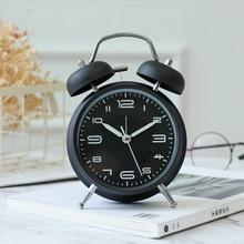 Alarm-Clock Kinder Analog Bedside Backlight Retro Vintage Reloj Metal Small Despertador
