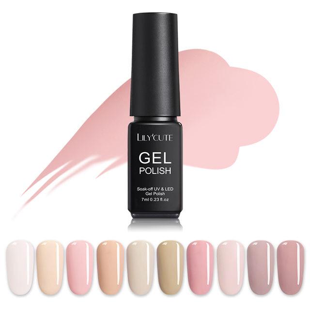 LILYCUTE 7ML Nude Pink  Series Pale Mauve Gel