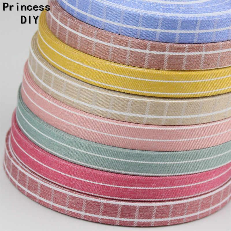5 מטר\חבילה 10 25 50mm קיץ צבעים בוהקים לבדוק פס סרט מקופל בד קלטת DIY שיער סיכת עניבת פרפר צווארון יד קרפט מאטריה