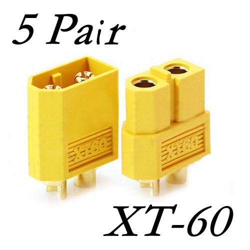 5 Pairs 10pcs XT60 XT-60 Male Female Bullet Connectors Plugs For RC Battery And Motor5 Pairs 10pcs XT60 XT-60 Male Female Bullet Connectors Plugs For RC Battery And Motor
