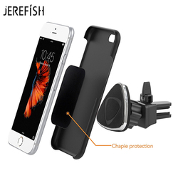 JEREFISH Magnetic Car Phone Holder Air Vent Mount Mobile Smartphone Stand Magnet Support Cell Cellphone Telephone Tablet GPS