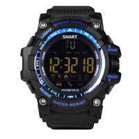 Inteligentny zegarek EX16 Xwatch sport Bluetooth 4.0 5ATM wodoodporny IP67 Smartwatch stoper na nadgarstek budzik długi czas czuwania