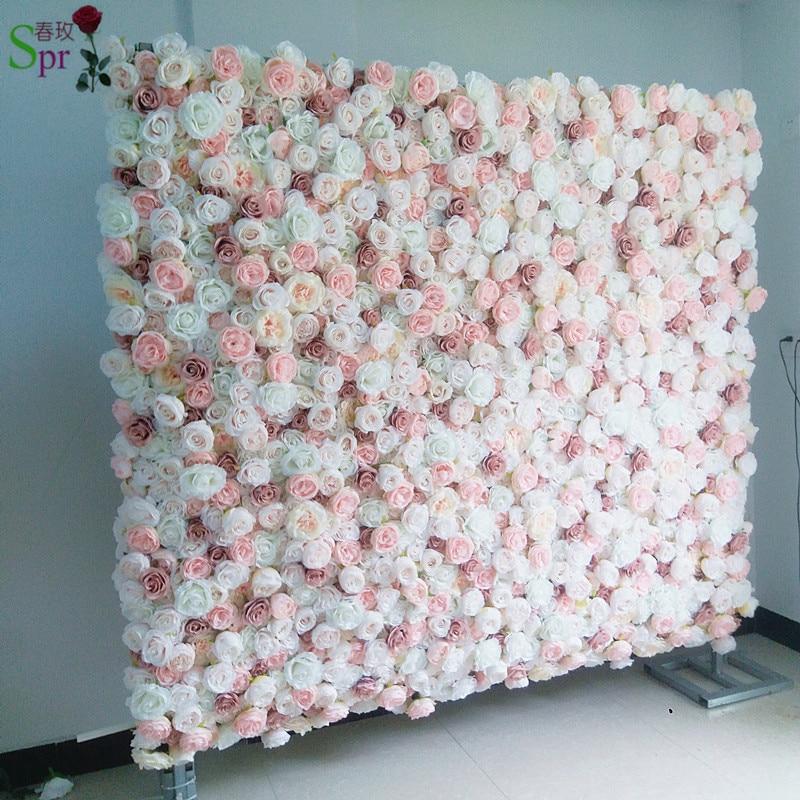 SPR 24 pcs/lot artificielle rose pivoine fleur mur mariage toile de fond fête événements artificielle fleur arrangements chemin de table