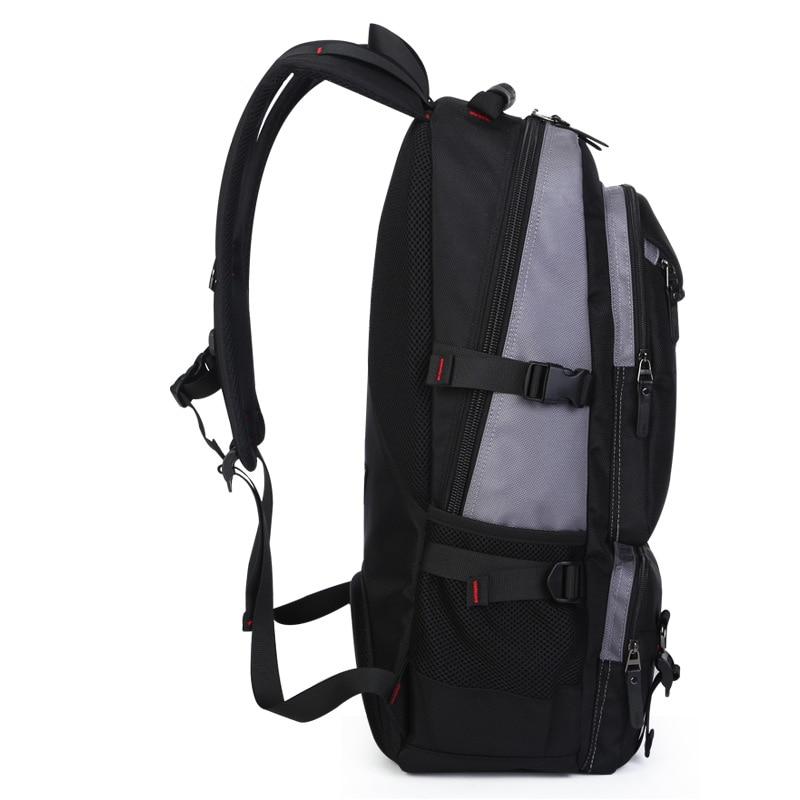 Grand sac à dos de voyage sac à bandoulière hommes alpinisme Oxford verrouillable étanche week-end nuit bagages sac polochon - 3
