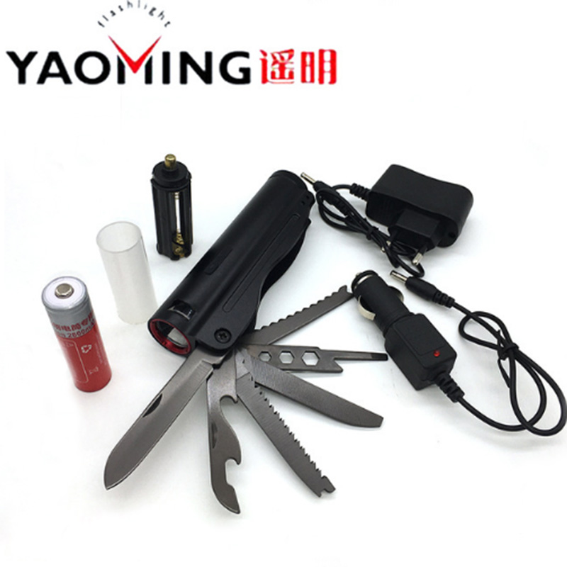LED flashlight CREE Q5 3 modes outdoor survival knife light waterproof flashlight by 18650 or 3*AAA self defense torch lanterna powerful led flashlight cree q5 3 modes telescopic baton torch lamp self defense police patrol flash light by 18650 or 3 aaa