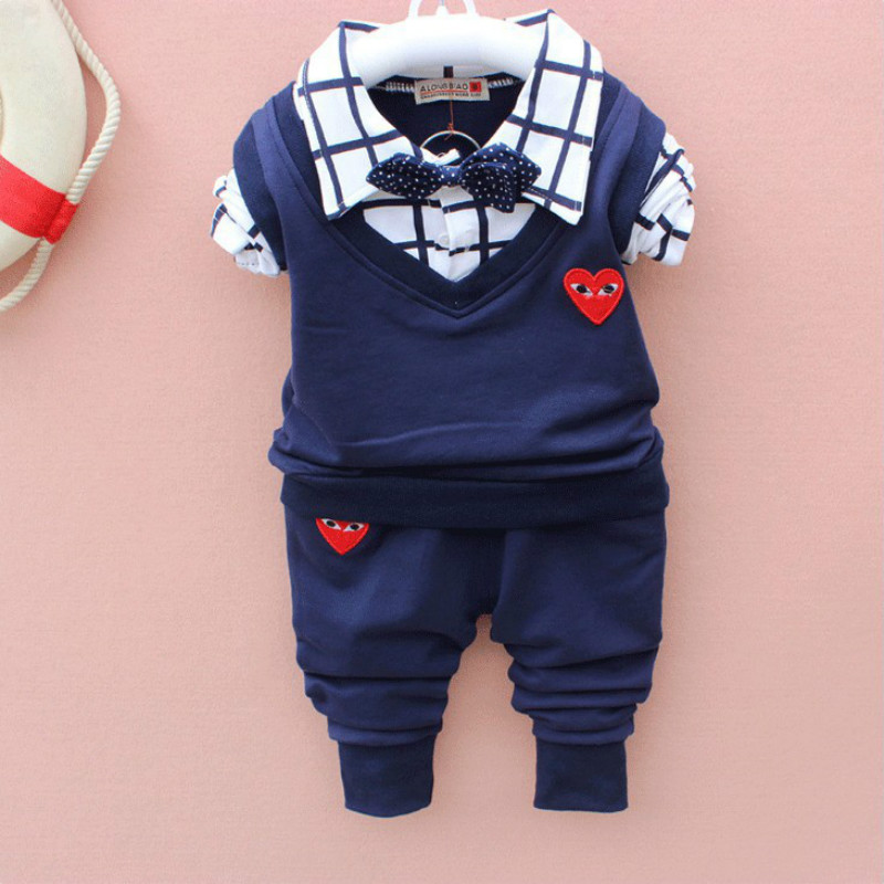 2018 new baby boy clothes suit The new age season 2018 childrens clothes Han edition boys love tie long suit