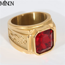 MINCN Titanium steel ring punk Rings for men women