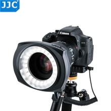 JJC DSLR Camera Flash Video Speedlite Binnen/Buiten Half/Hele LED Macro Ring Light voor NIKON/CANON /SONY/Olymous/Panasonic