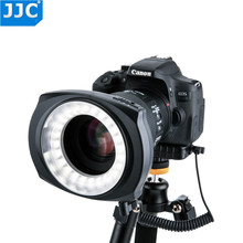 JJC DSLR caméra Flash vidéo Speedlite intérieur/extérieur moitié/entier LED Macro lumière annulaire pour NIKON/CANON/SONY/Olymous/Panasonic