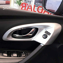 For Drive on Left Hand Side! Auto Car Inner Door Handle Bowl Cover Decoration Trim For Renault Kadjar 2015 2016 2017 Car Styling