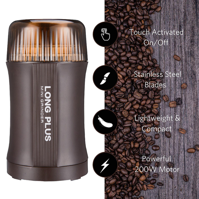 Coffee Grinder Electric Nut & Spice Grinder With Stainless Steel Blade for Seed Bean Pepper Grinder, Cleaning Brush Included 1