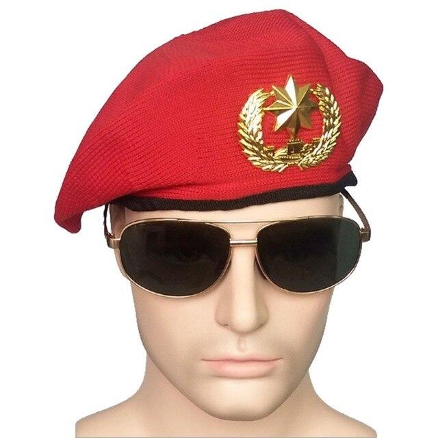 Rojo seguridad gorras para hombres adultos niños etapa rendimiento marinero gorra  militar sombreros f38aa0c1b68