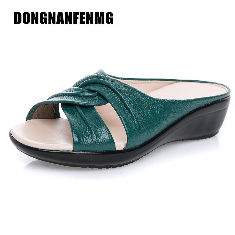 DONGNANFENG Frauen Mutter Schuhe Sandalen Wohnungen Casual Strand - Damenschuhe