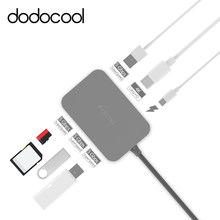 dodocool 7-in-1 USB 3.0 HUB Type-C 4K Video HD Output SD/TF Card Reader usb-c hub for Apple MacBook Air Pro Laptop Tablet PC Mac(China)