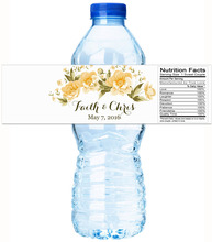 Custom Lily Personalized Water Bottle Labels Wedding Decorations Favors Gifts Tags Personalised Candy Stickers