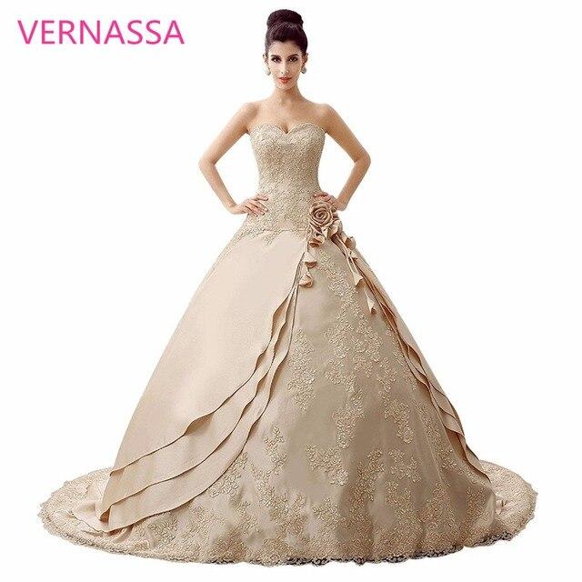 Satin Charming Design Top Crystal Luxury Wedding Dress Cathedral Train Bridal Gown Dresses Vestido De