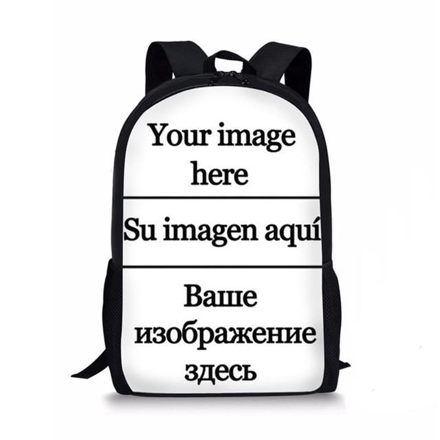 Custom Your Picture Children Backpack 16 inch Knapsack DIY Student School Bag Teenager Kids Rucksack Bagpacks Mochilas