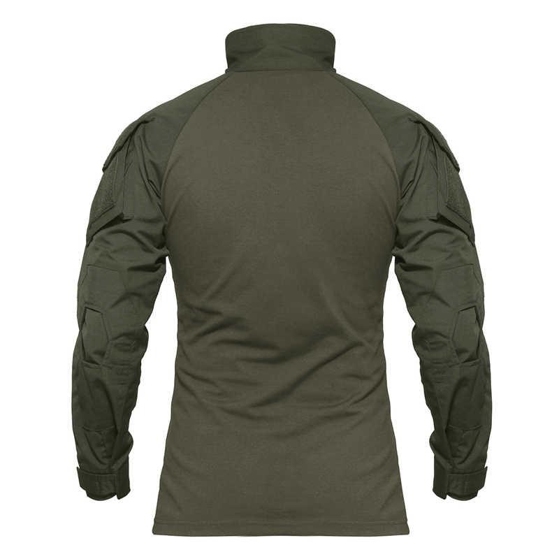 Camiseta de combate MAGCOMSEN para hombre de manga larga estilo militar camisetas tácticas del Ejército de EE. UU. Airsoft especial SWAT camisetas para hombre