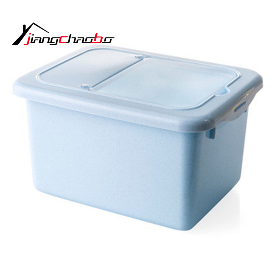Kitchen Storage Organizer Rice Storage Container Rice Holder Box Cereal Bean Container Sealed Box With Measuring