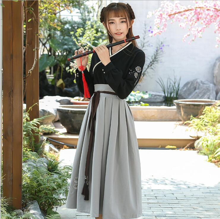 Retro Chinese Style Hanfu Long Dress 1