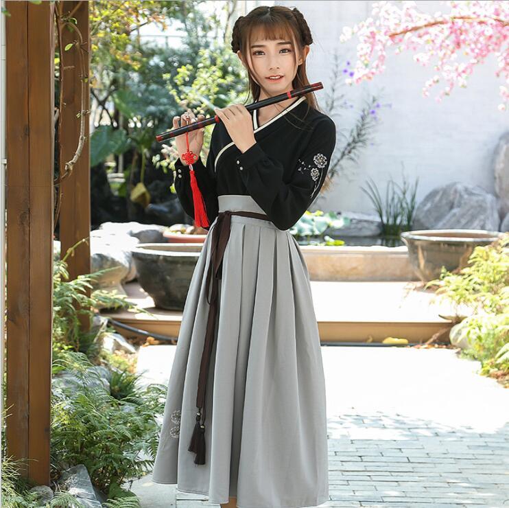 Retro Chinese Style Hanfu Long Dress 1