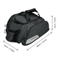 Bike Rack Bag Waterproof Cycling Bike Rear Seat Bag Bike Trunk Cargo Pack Road Bike Carrier Bag