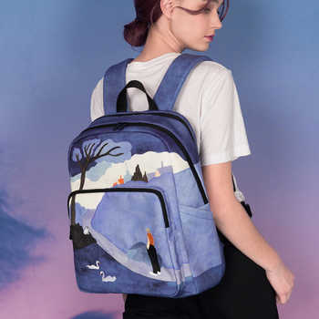 [NEW ARRIVAL] 2019 YIZISTORE original backpacks creative school bags for teenagers and traveling in SCENERY 3(FUN KIK store)