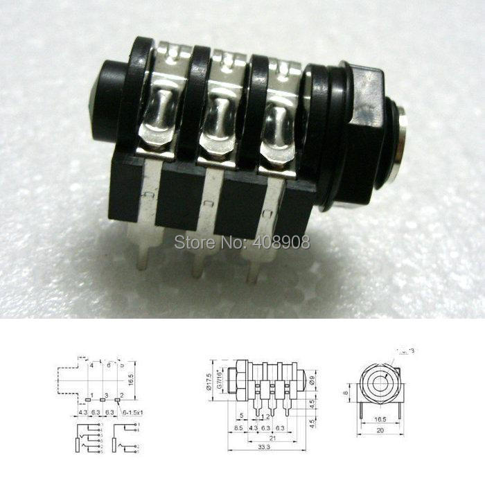 10pcs 1 4 stereo pcb panel mount headphone jack in connectors from rh aliexpress com XLR Jack Wiring XLR to 1 4 Jack