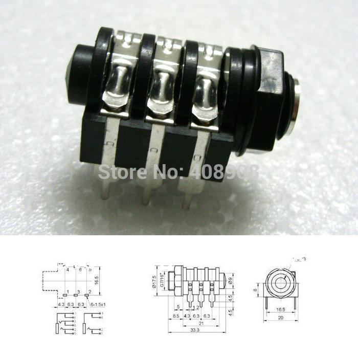 5pcs Mono Jack  5 Pcs Stereo Jack 6 35mm Headphone Jack