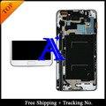 Трек no. + 100% протестированных оригинал для Samsung Galaxy примечание 3 нео облегченная N7505 N750 жк-планшета ассамблеи с рамкой - белый / серый