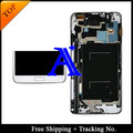 Track No.+ 100% tested original For Samsung Galaxy note 3 neo Lite N7505 N750 LCD  Digitizer Assembly with frame -White/Grey