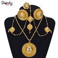 NOVO estilo Conjuntos de jóias de noiva Habesha Etíope ouro estilo Africano banhado a Ouro 24 K set/Sudão/Nigéria/Eritreia/quênia/Casamento A30023