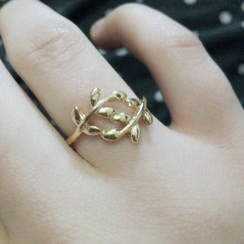 Simple Open Design Leaf Ring Creative Charming Wedding Ring Jewelry
