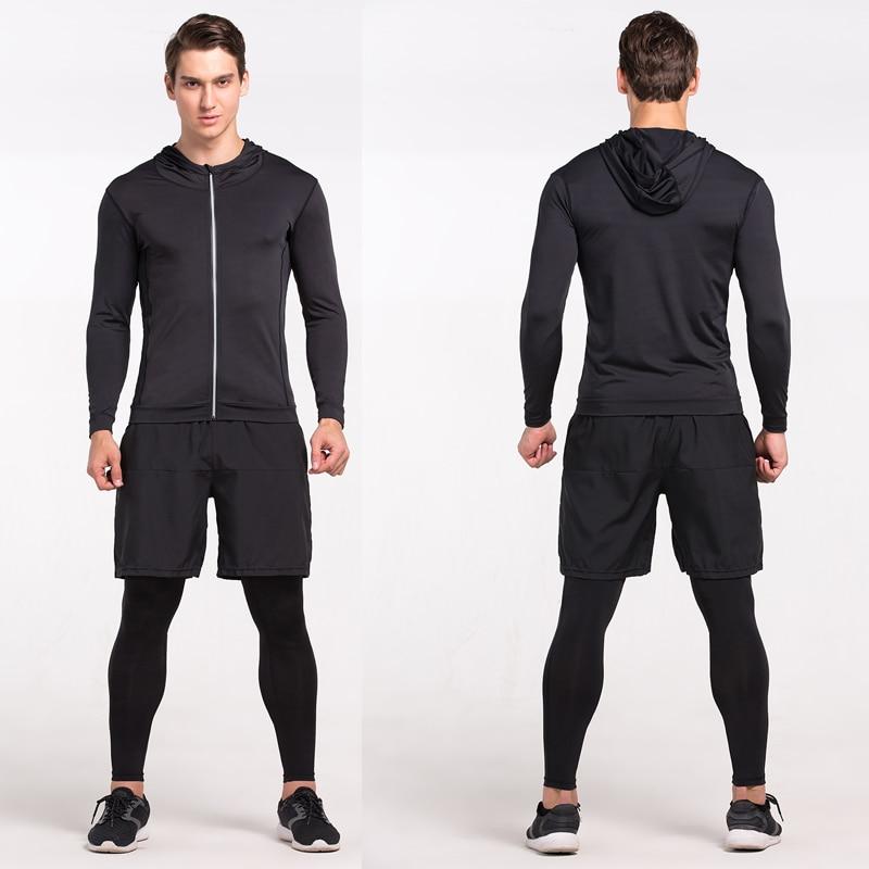 Heren Running Run Jacket Sweaters Compressie Panty Fitness Oefening - Sportkleding en accessoires - Foto 4