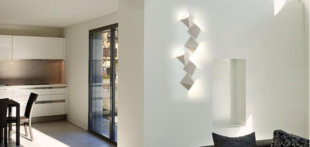 HTB1QRXUlVcJL1JjSZFOq6AWlXXaS - LED Modern Geometric Iron Acryl Black White DIY Magic Box LED Lamp LED Light Wall lamp Wall Light Wall Sconce For Store Bedroom