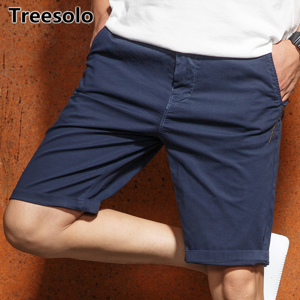 Treesolo shorts men 2018 Fashion Cotton Calf-length  jogger shorts homens Summer Brand Clothing Workout Bermuda Trousers 484