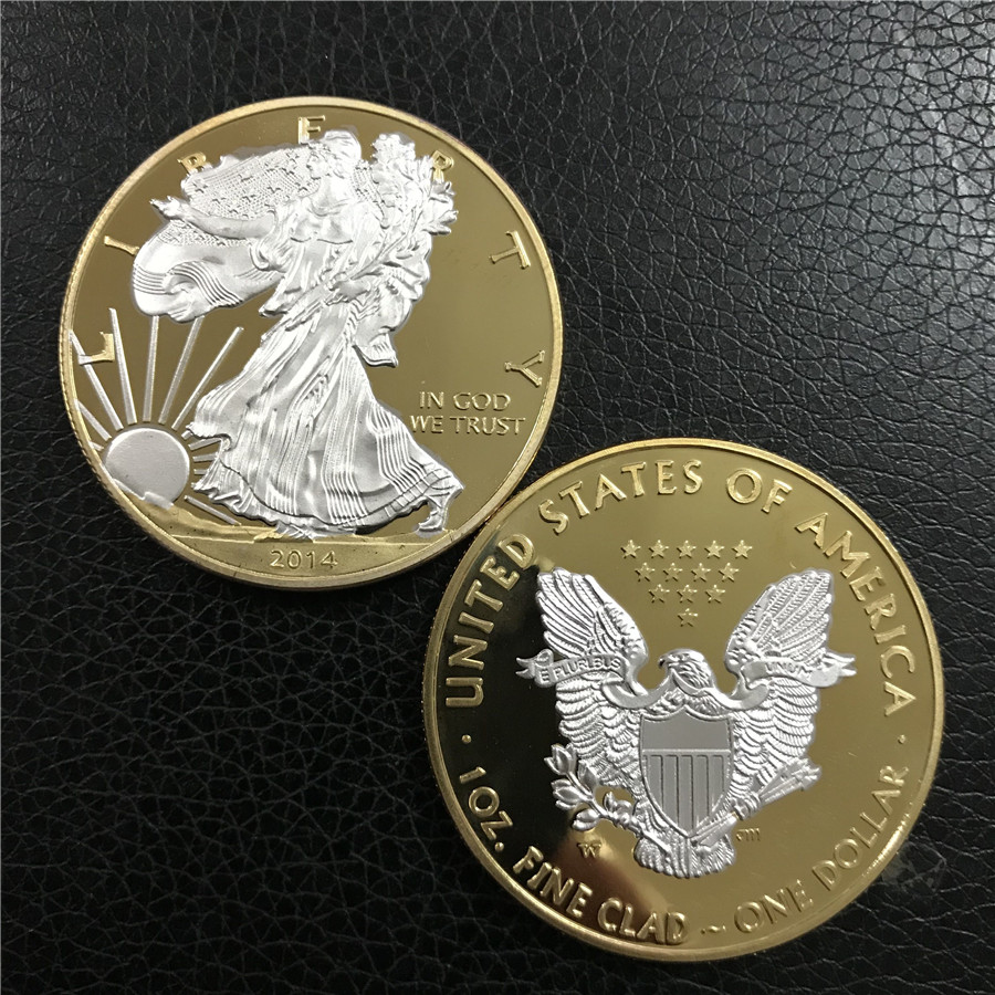 2014 Hot sale 2014 Gold coin American gold Eagle 1troy oz .999 Bullion Gold Round coin, American gold eagle 1OZ free shipping