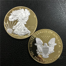 2014 Hot sale Gold coin American gold Eagle 1troy oz .999 Bullion Round coin, eagle 1OZ free shipping