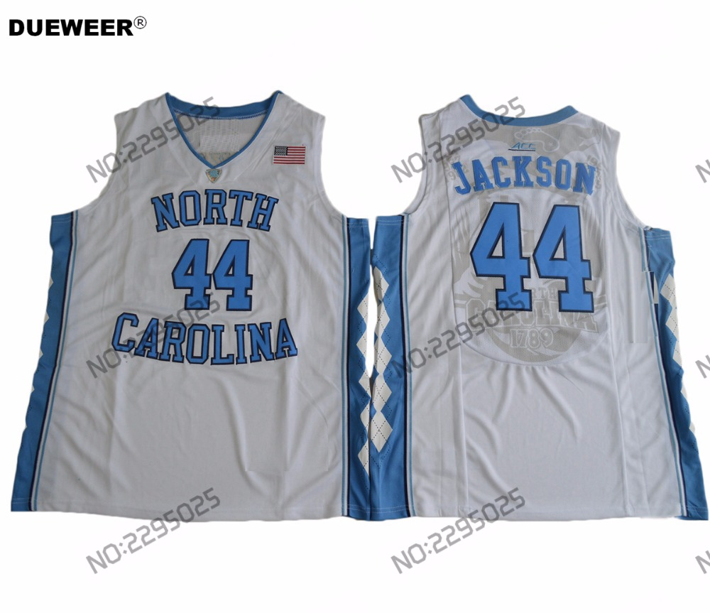 DUEWEER Mens North Carolina Tar Heels Justin Jackson College Basketball  Jersey Cheap  44 Justin Jackson Stitched White Jerseys 1b922dd2b
