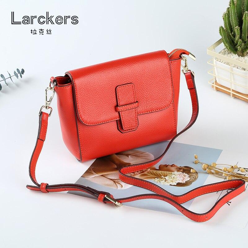 Genuine leather fashion shoulder bag black thread decoration women crossbody bag solid color soft leather ladies casual handbag