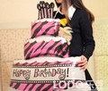 1 pcs Foil Balloon Cake Printed Happy Birthday Anagram Large size 71*81cm