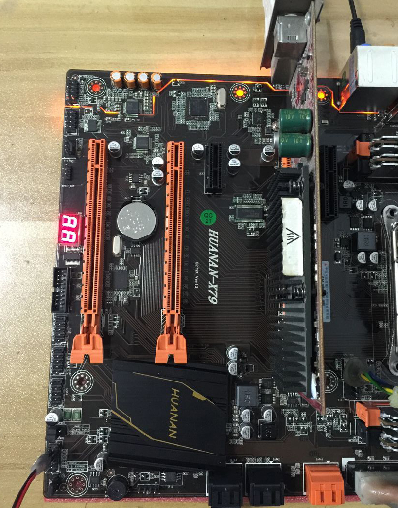 HUANAN golden Deluxe X79 gaming motherboard LGA 2011 ATX CPU E5 2680 V2 SR1A6 4 x 16G 1333Mhz 64GB DDR3 RECC Memory with cooler