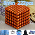 Retail orange 5mm 216pcs Buck yballs Neo cube Magic 3d Cube Puzzle Magnetic Magnet Balls Spacer from Beads Magico Metal Box