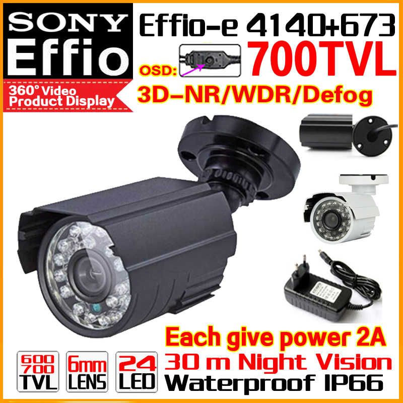 HD Metal Mini Camera 1/3ccd Sony Effio-e Real 700TVL Security Surveillance Color Home Video Waterproof IP66 Infrared 30m Bracke free shipping infrared video camera ccd sony effio e 700 tvl high definition surveillance camera six lamps array waterproof
